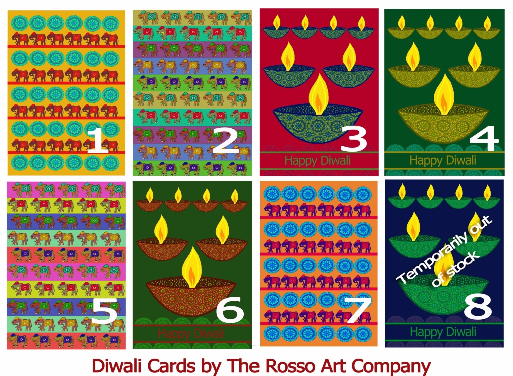 Diwali cards by The Rosso Art Company