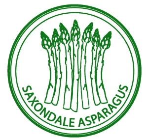 Saxondale Asparagus logo by Rosso Art Company